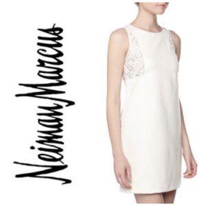 Neiman Marcus Dresses - NWT Neiman Marcus Vegan Leather White Dress XS
